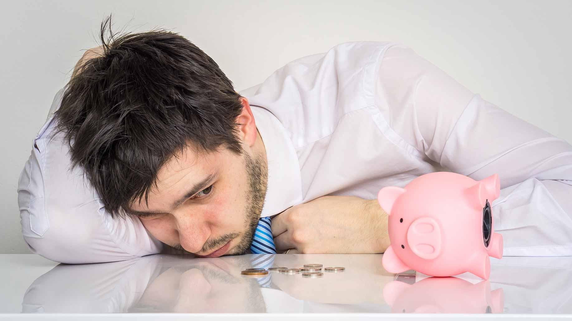 no money in piggy bank