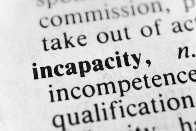 Legal Facts Incapacity Planning