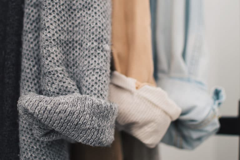 Organized Styled Clothes Sweater Shirts