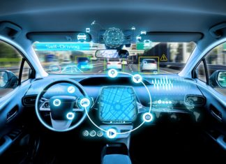 Self Driving Car Interior Traffic Control Sensors