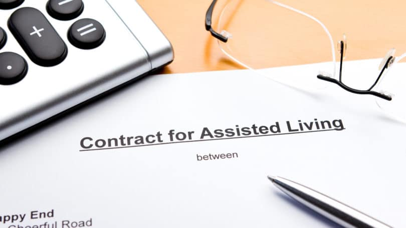 Assisted Living Cost Contract Calculator Pen