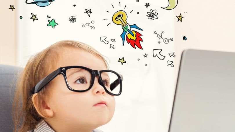 Toddler Space Laptop Independent Thinker Glasses