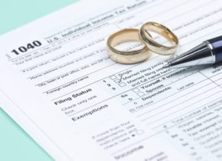 Wedding Rings Joint Tax Return 1040