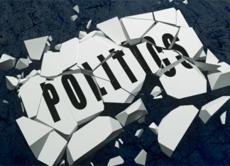 Politics Shatter Brick White Black