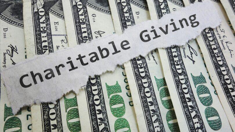 Charitable Giving Cash Hundred Dollar Bills
