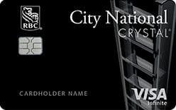 city national bank crystal visa infinite credit card