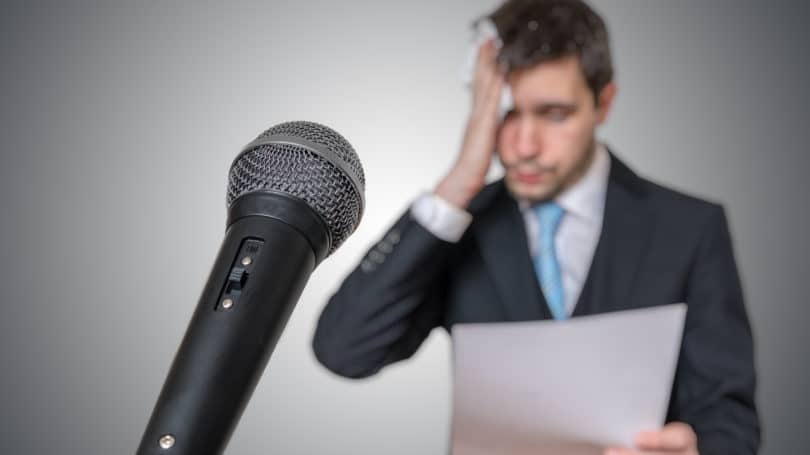 Fear Of Public Speaking Sweating Microphone