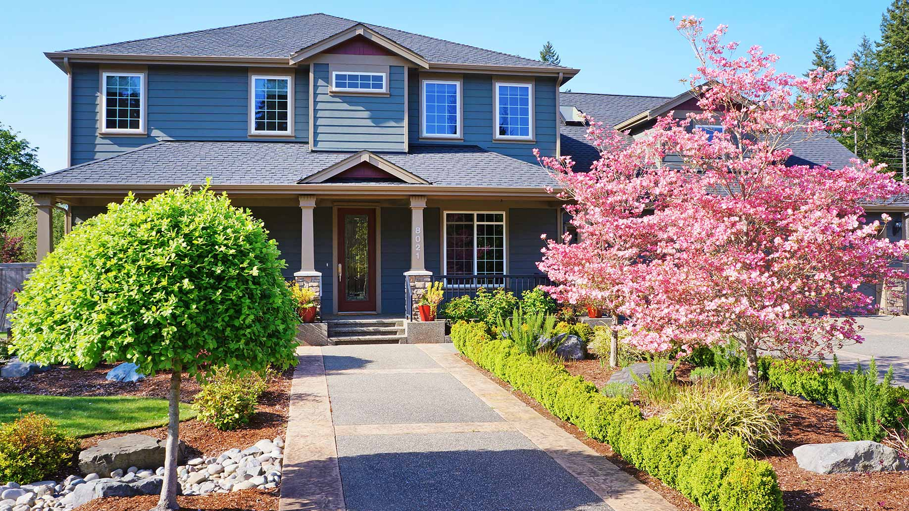 house driveway curb appeal