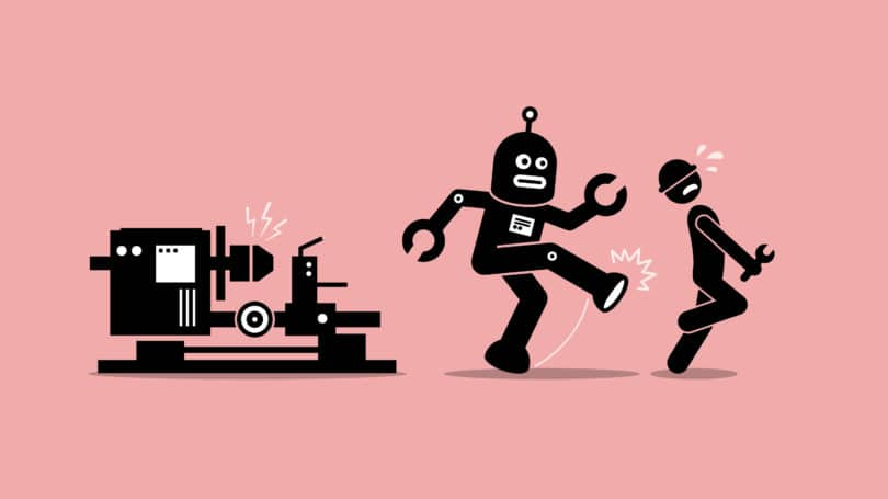 Robot Factory Worker Job Takeover