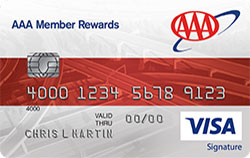aaa member rewards visa credit card