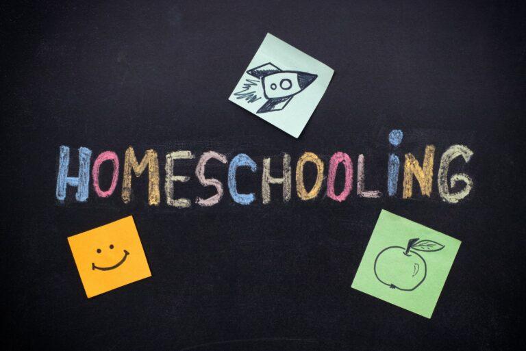 Homeschooling Chalkboard Colorful Chalk Post Its