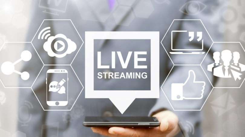 Live Streaming Service Grey White