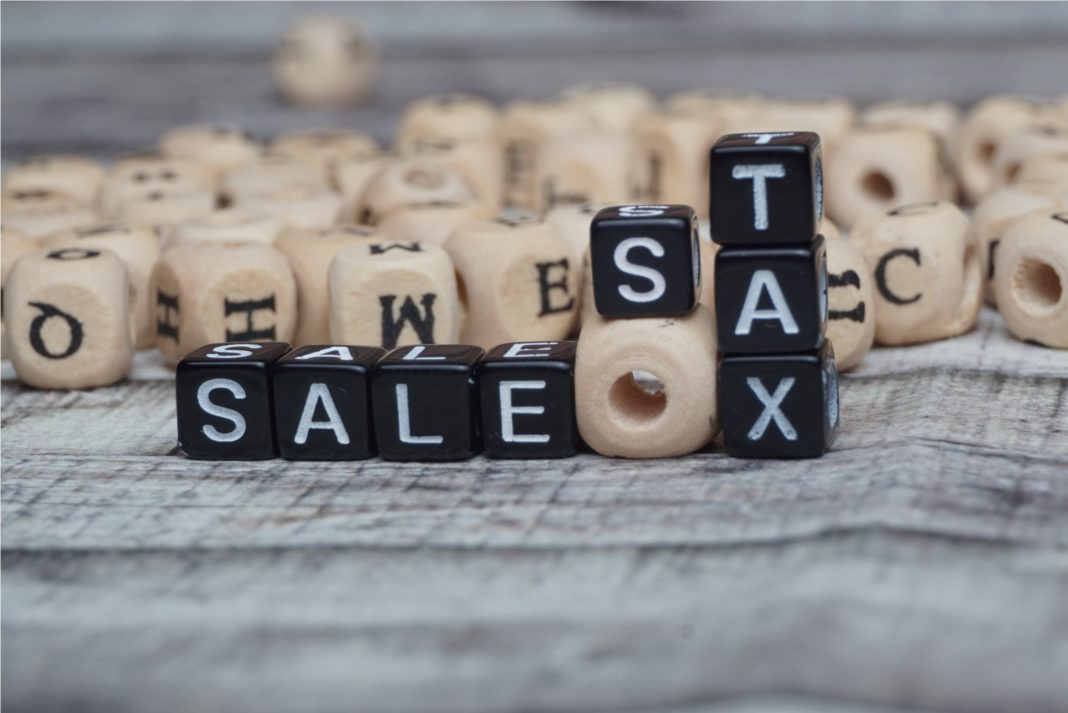 Online Retail Sales Tax Letters Beads Neutral Tones