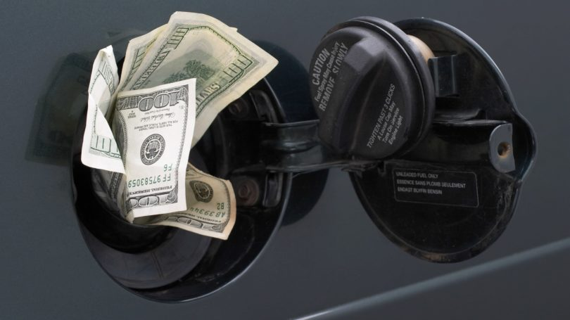Rising Gas Prices Cash Pump