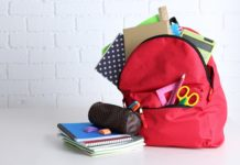 Backpack School Supplies Students Classroom