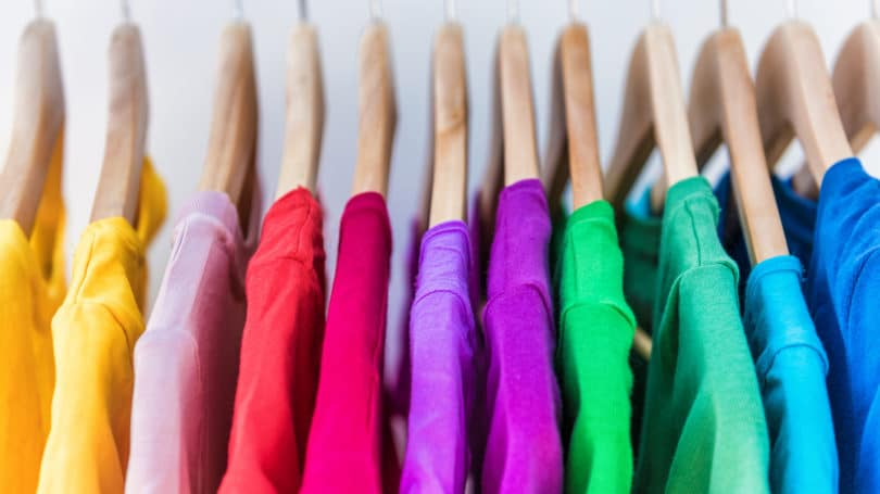 Clothing Rainbow Sweaters Hangers
