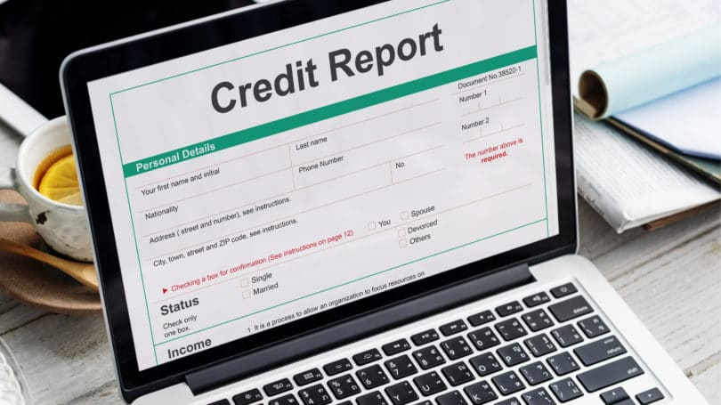 Credit Report Laptop Table