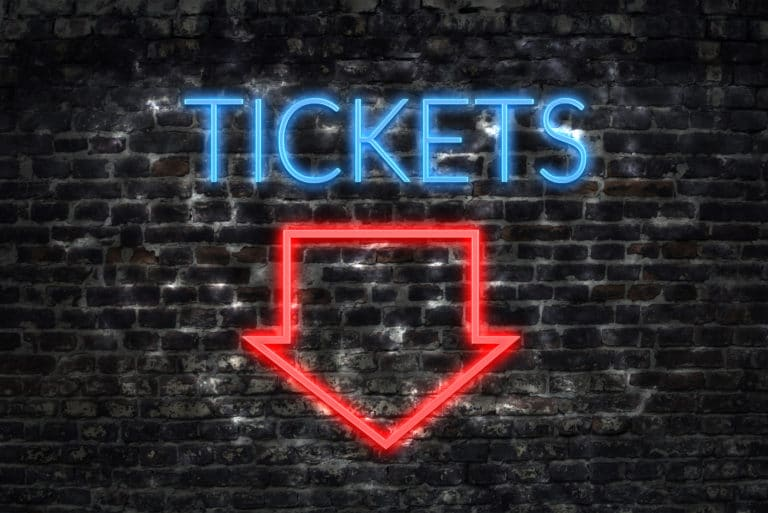 Tickets Sale Arrow Neon Sign