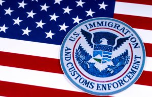 United States Immigration And Customs Enforcement American Flag
