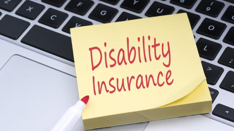 Disability Insurance Post It Laptop