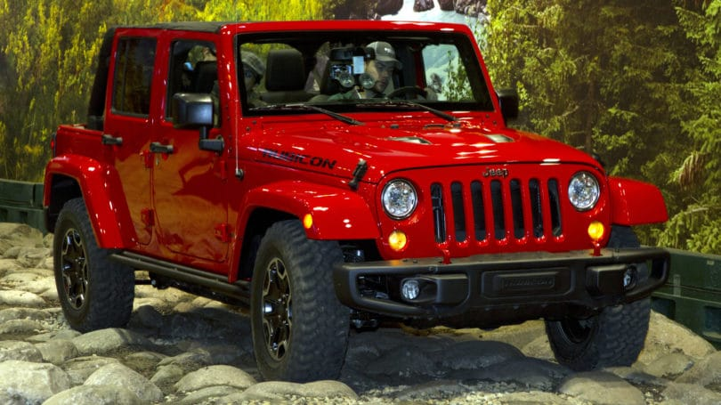 Jeep Wrangler Red Suv