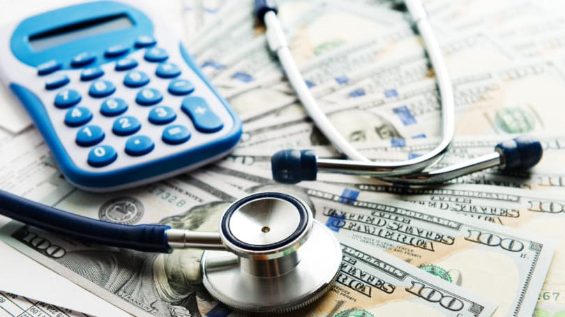Health Insurance Stethoscope Calculator Dollars Spread