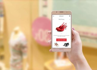 Phone App Shopping Etailer Ecommerce Shoes