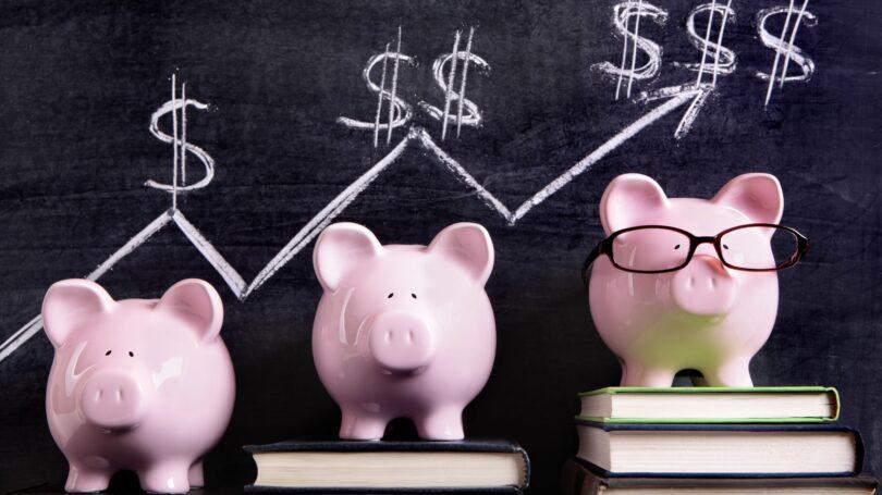 Piggy Bank Finances Savings Dollar Signs Growth