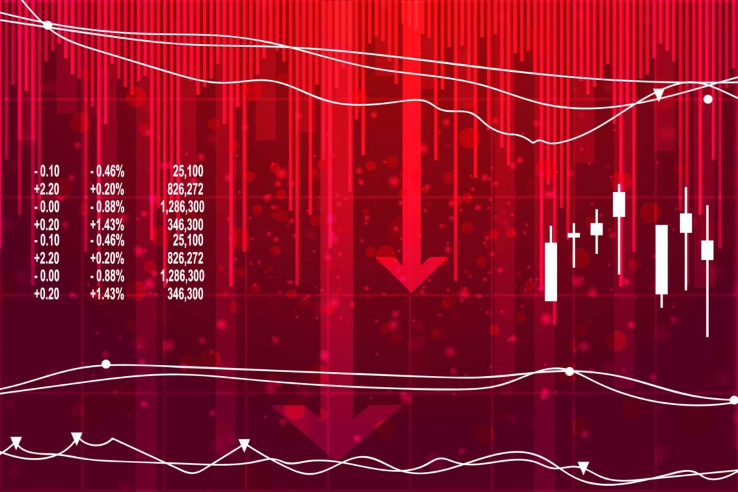 Recession Red Stock Down