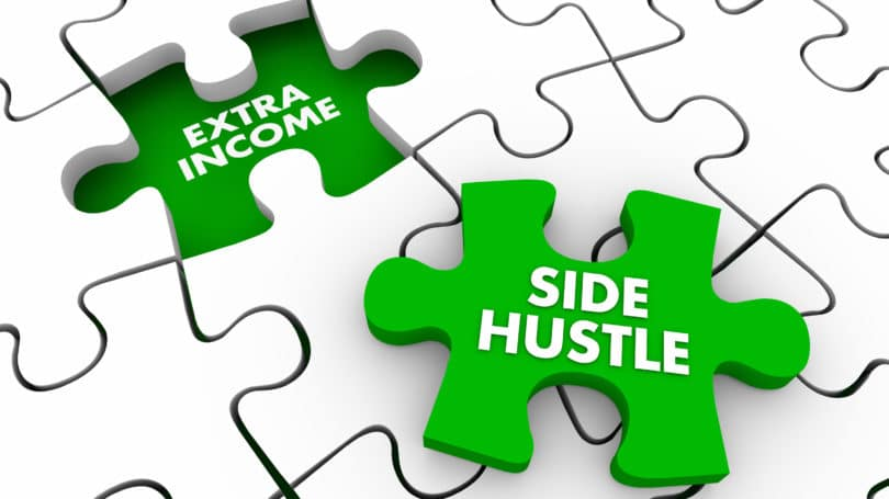 Side Hustle Extra Income Puzzle Piece