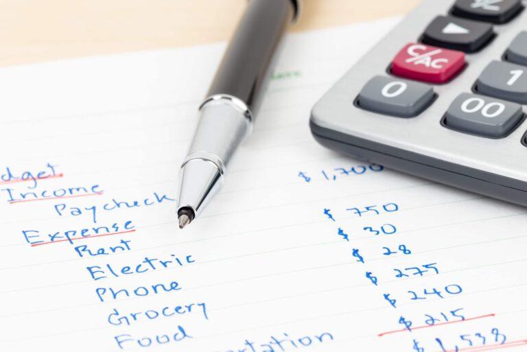 Budget Income Expenses Pen Calculator