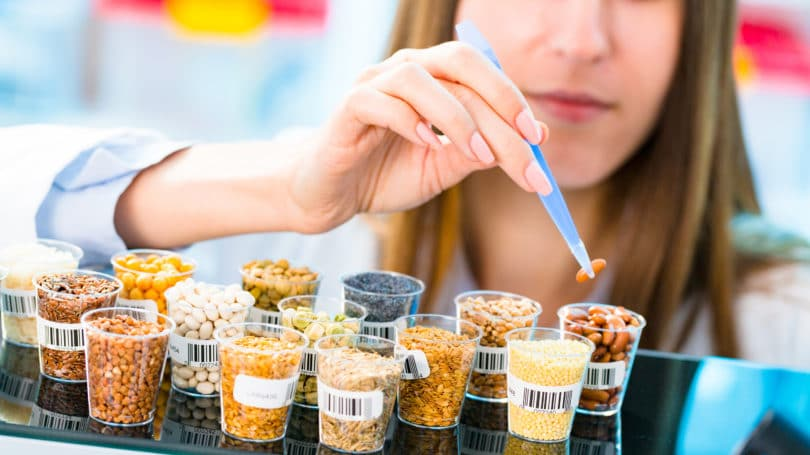 Gmo Testing On Cereal Lab Tweezer Scientist