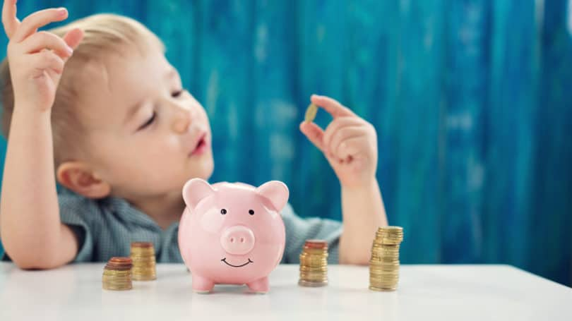 Kids Credit Piggy Bank Gold Coins