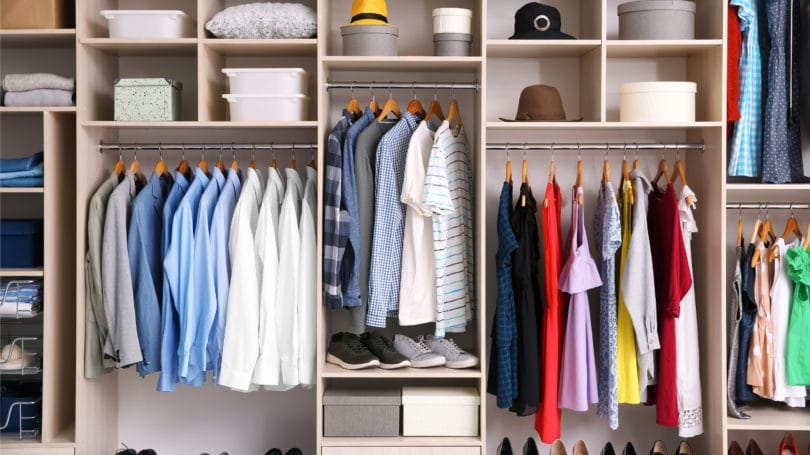 Organized Closet Wardrobe Efficient