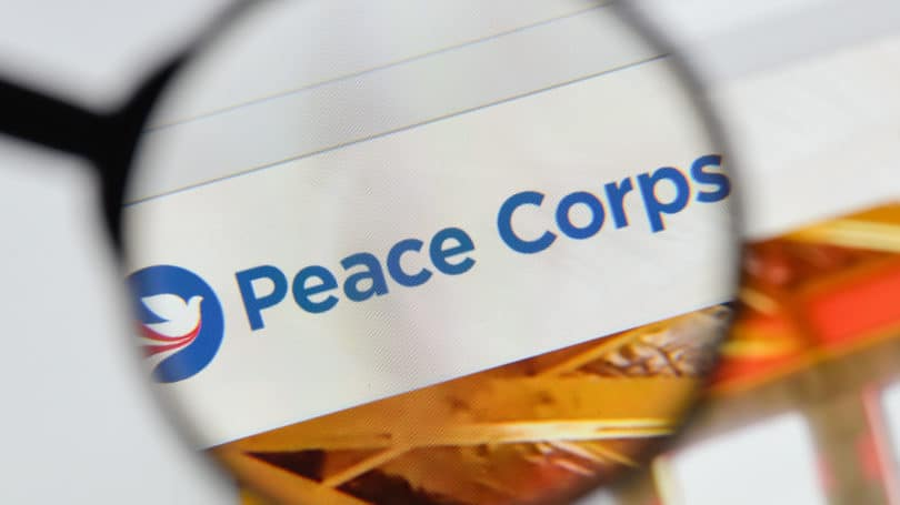 Peace Corps Website Logo Magnifying Glass