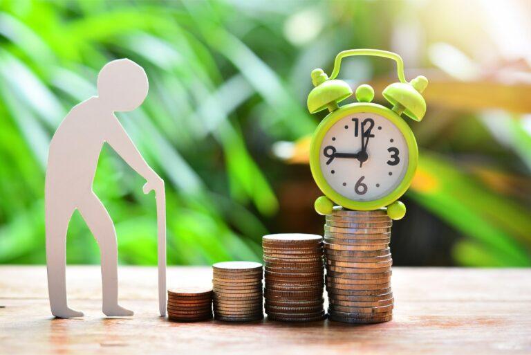 Retirement Cane Clock Coins Plan
