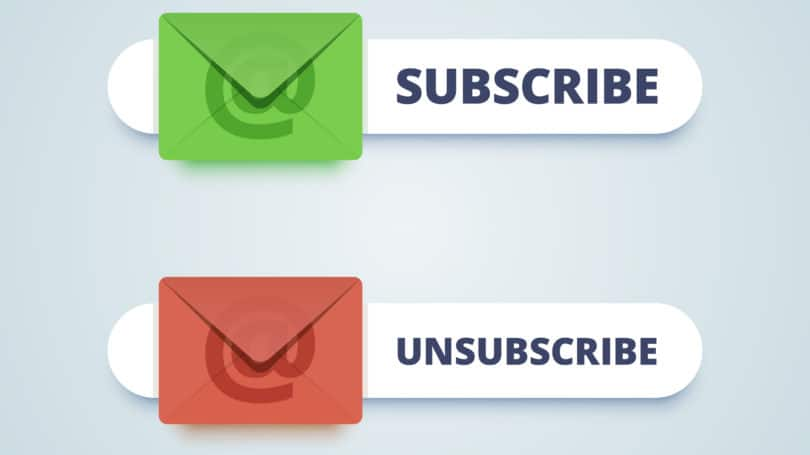Subscribe Unsubscribe Emails Green Red
