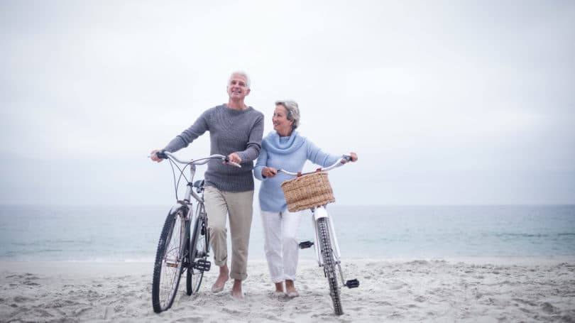 Travel For Senior Citizens Biking Beach Chilly