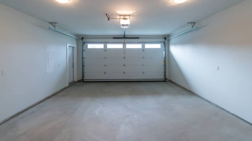 Empty Garage Storage Space