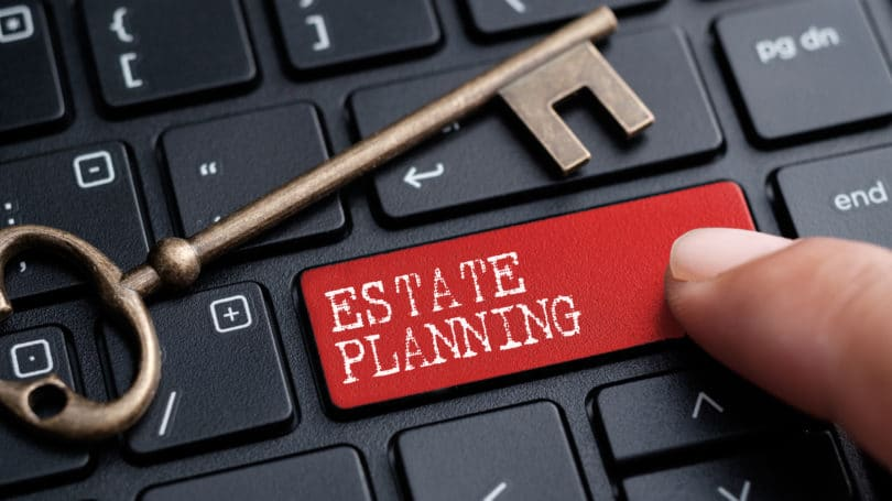 Estate Planning Keyboard Key Red Button