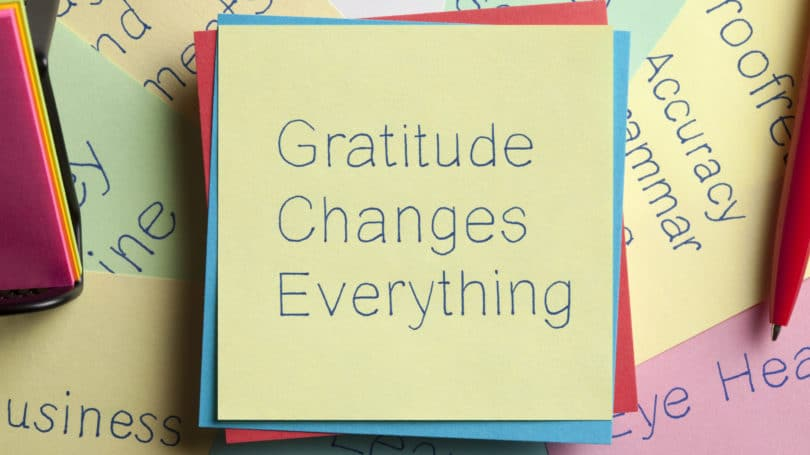 Gratitude Changes Everything Post It Memo