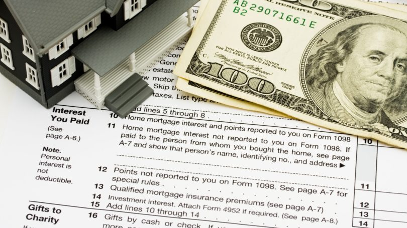 Home Tax Deductions Hundred Dollar Bill Cash