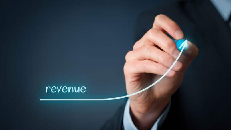 Increase Revenue Arrow Growth Businessman