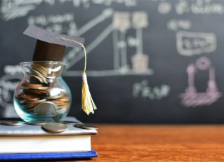 Investing As A Student Chalkboard Coins Jar