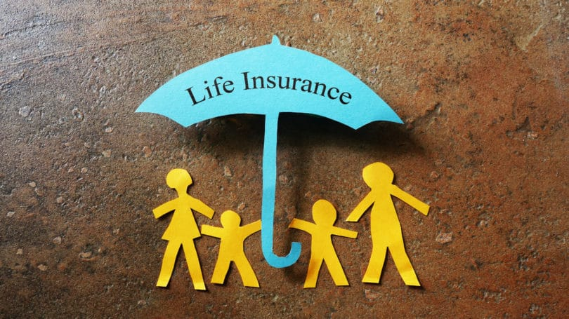Life Insurance Paper Cut Out Umbrella Family
