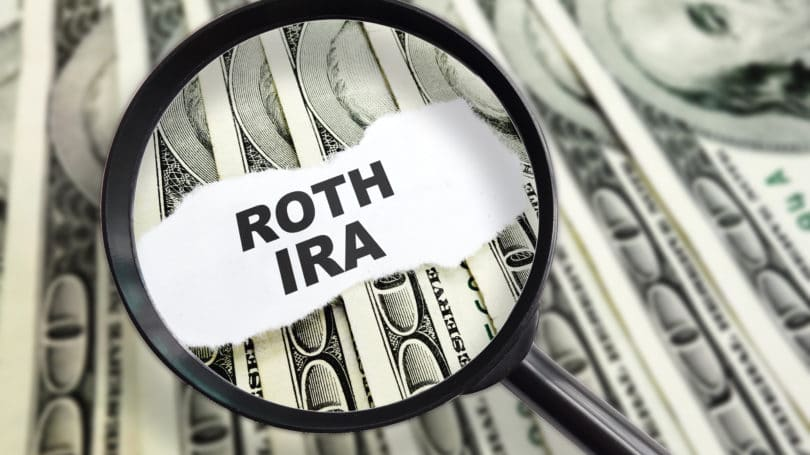 Roth Ira Magnifying Glass Cash