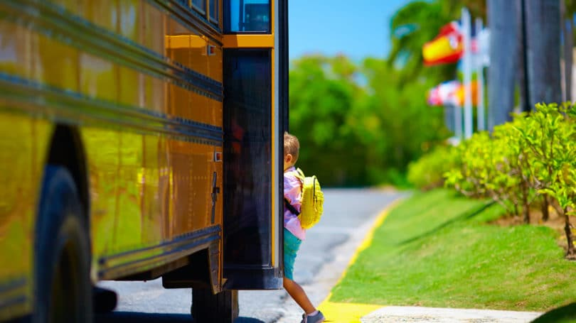 Yellow School Bus Pick Up