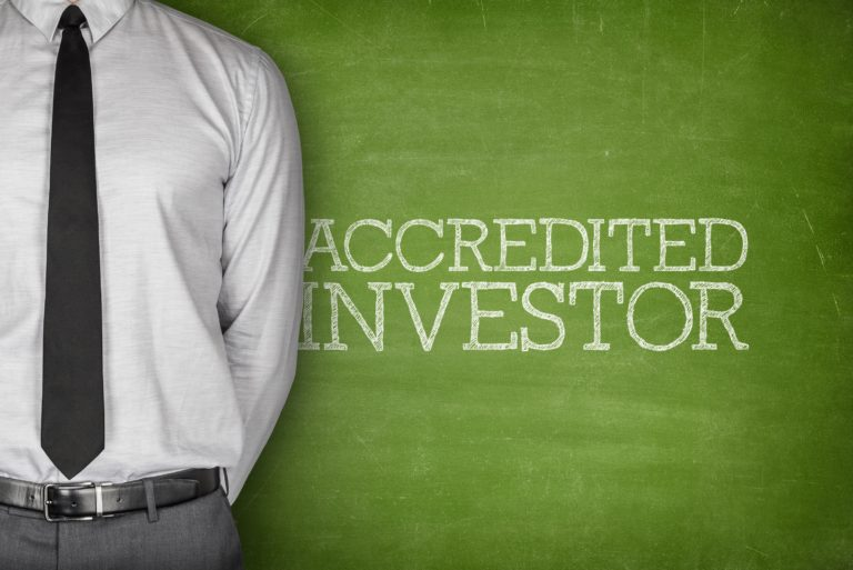Accredited Investor Man In Suit Chalkboard