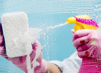 Cleaning Window Bathroom Gloves Sponge Spray