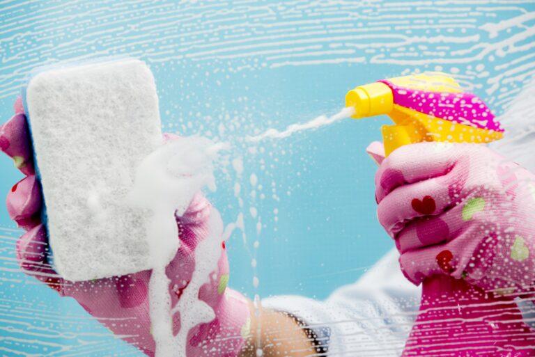 Cleaning Window Bathroom Gloves Sponge Spray